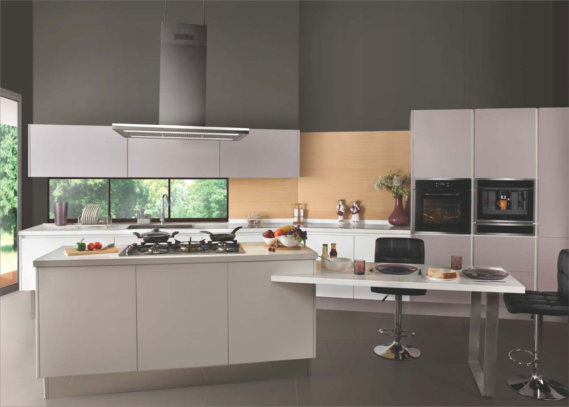 Sleek Modular Kitchen 4